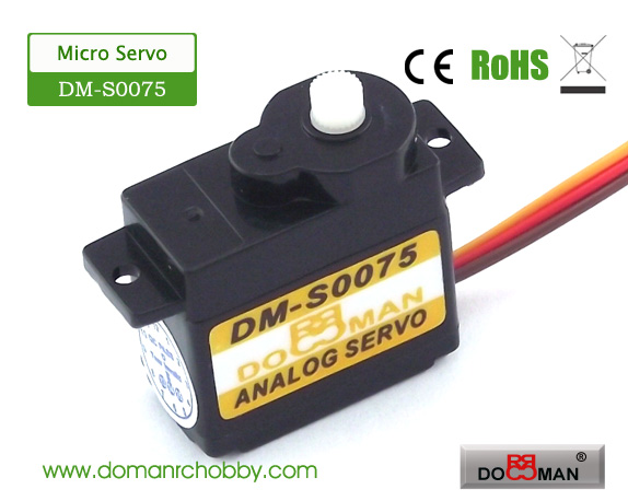 S0075 plastic gear 7.5g digital servo