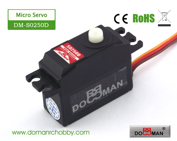 S0250D plastic gear 25g digital servo