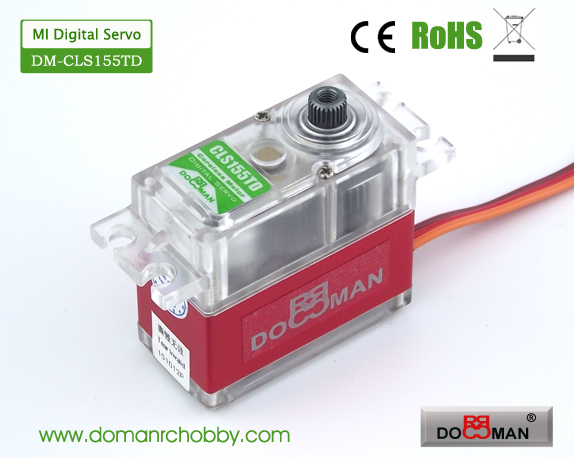 CLS155TD Magnetic Induction 15kg Coreless Digital Servo rc servo